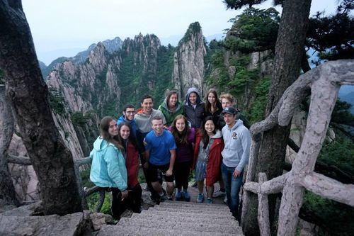 Group photo on huangshan